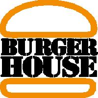 burger house logo scharz
